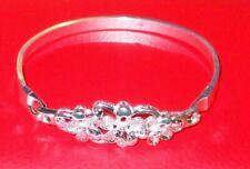 Bangle Or Bracelet - New never worn. Ladies - Silver Metallic - Floral -