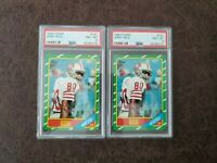 (1) 1986 Topps Jerry Rice rookie #161 PSA 8 - San Francisco 49ers Legend -Pick 1