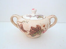 Vintage Nasco Morning Glory brown transferware sugar bowl w/lid