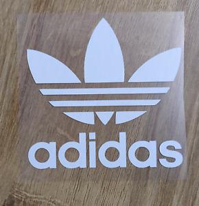 Adidas shirt iron on logo   White, Pink, Gold, Blue, Silver   Various Sizes