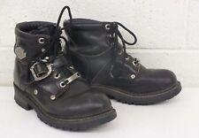Harley-Davidson Motorcycles Heavy Duty Black Leather Boots US Women's 6 EU 37