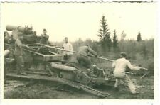 German soldiers loading a 21cm morser artillery gun, WW2, Original Photo
