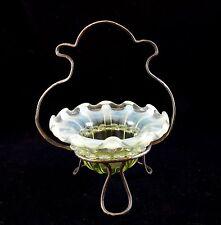ART GLASS!!   ENGLISH Vaseline Opalescent   ** MARMELADE ** in Frame!!
