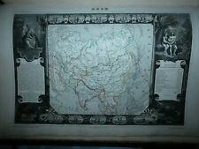 CARTE ATLAS NATIONAL ILLUSTRE 1854 LEVASSEUR DEPARTEMENT asie