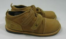 timberland 6682 wheat leather strap slip on toddler round toe boot size  9.5