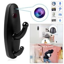 Mini Hidden Camera Spy Clothes Hook DVR Nanny Babysitting Cam Home Security
