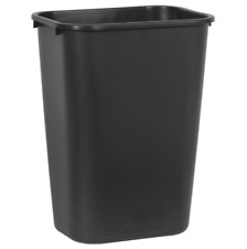 Rubbermaid Commercial Plastic Recycling Bin Container Trash Can 10 Gallon Black