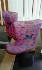 Wellington Boots Kids Size 10 Peppa Pig Pink Stars Welly's Girls