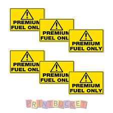 Premium Fuel Only Sticker 60mm 6 pack quality water & fade proof vinyl