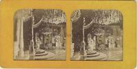 Sala Trono Palais Dei Tuileries Foto Stereo Diorama Vintage Albumina c1865