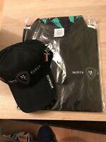 Monaco Grand Prix Monte Carlo Merchandise. Black Cap & Polo Shirt Size XL. New