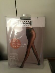 Wolford Satin Touch 20 Tights  3 for 2 promotion pack in SMALL in Admiral./