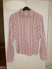 MyOwn Hemd Cord Bluse gestreift 36 S M Baumwolle Damen langarm Kordhemd 90er 00s
