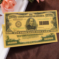 $10000 Dollar Gold Foil Plastic Commemorative Coins Banknotes Collections Gifts