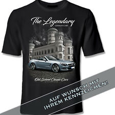 MERCEDES SL R 231 BLACK Shirt mit Kennzeichen T-Shirt original YOUTEX
