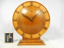 Schöne mechanische Art Déco Design Junghans Holz Tischuhr table clock working