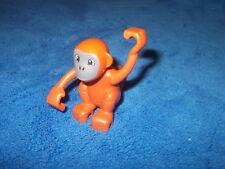 Lego Duplo 1 X Affe Schimpanse bewegliche Arme braun Zoo Neues Modell aus 6157