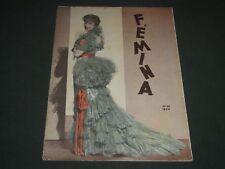 1934 OCT 19 FEMINA PORTUGUESE MAGAZINE - JEANETTE MACDONALD COVER - ST 4786