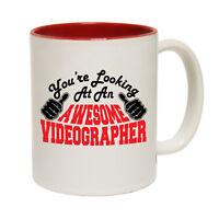 Funny Coffee Mug Christmas Birthday Gift - Videographer Youre Looking Awesome