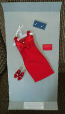 """Franklin Mint"""" Diana The People'S Princess"""" Red Dress Outfit On Original Card ~"""