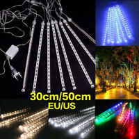 30/50cm Meteor Shower Falling-Star-Rain-Drop-Icicle-Snow-Fall-Xmas-Fairy-Light