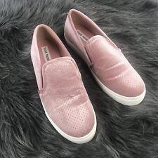 Steve Madden Craafty Women's Size 8 Pink Suede Slip On Casual Sneaker