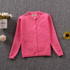 NEW Kids Girls Cotton Knit Sweater Cardigan Top size 12m.18m.24m.3.4.5