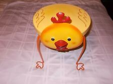 Small Metal Yellow Chicken Child Table / Patio / Decorative Stand