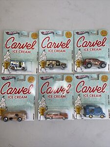 2011 Hot Wheels Carvel Ice Cream 6 Car Set 1:64 Diecast NIP
