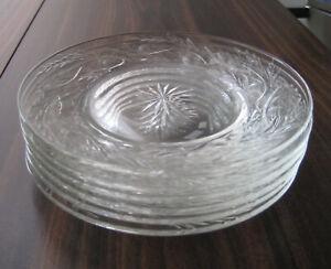 "KENT PHILLIPS Plates 6 3/8"", SET of 6, PHILLIPS CUT GLASS CO MTL, BIRKS CRYSTAL"