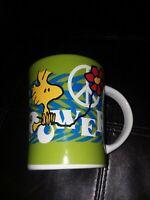 Charlie Brown Peanuts Flower Power Woodstock Coffee Mug Cup 15 Oz