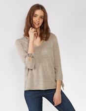Fat Face Talia Organic Cotton Tie Sleeve Jumper - Misty Surf - UK 16 - RRP £42