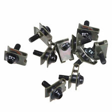 10pcs CNC Aluminum Motorcycle M5 5mm Fairing Body Bolts Screws Nuts Speed Clips