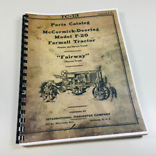 FARMALL F20 TRACTOR PARTS MANUAL McCORMICK DEERING FAIRWAY REGULAR NARROW PRINT