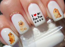 Pomeranian Nail Art Stickers Transfers Decals Set of 58