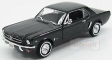 Ford Usa Mustang 1/2 Coupe 1964 Black Welly 1:24 WE22451BK