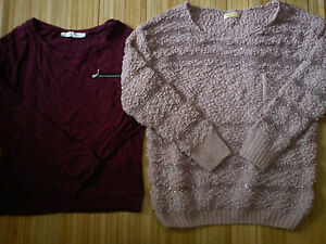 NICE WINTER PARTY 8x BUNDLE LADIES WOMENS JUMPERS CARDIGAN JACKET SIZE 10 (2.2)