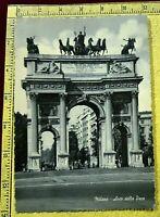 124) MILANO ARCO DELLA PACE ARCH OF PEACE CARTOLINA POSTCARD VIAGGIATA