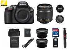 Nikon D5100 16.2MP DSLR Camera Kit w/AF-S VR 18-55mm Lens (3 LENSES) BUNDLE