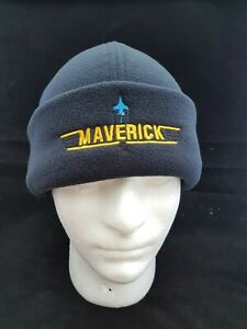 Maverick Embroidered Micro Fleece Beanie / Winter Hat Top Gun