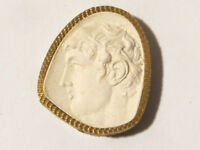 19thC Intaglio Plaster Molded Tassie ROMAN EMPEROR unusual Grand Tour SEAL #43 *
