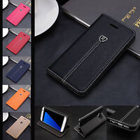 Luxury Vintage Leather Magnetic Wallet Flip Case Cover For Various Phone Model