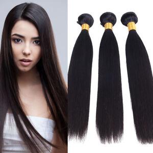 100% Unprocessed Virgin Human Hair Brazilian Straight Hair 3 Bundles 150g Wefts