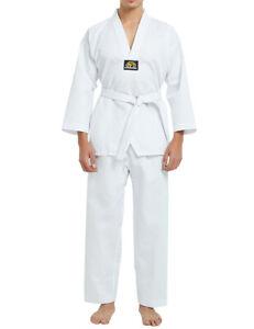 TOPTIE 7.5 Oz Taekwondo Suit TKD Dobok Student Uniform with Belt