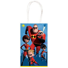 INCREDIBLES 2 KRAFT PAPER FAVOR BAGS (10) ~ Birthday Party Supplies Treat Loot
