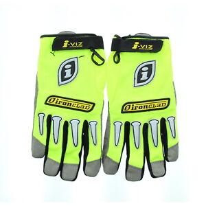 Ironclad Safety Utility Gloves IVG 06 i-Viz Reflective High Visibility, Green