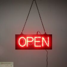 "Open & Closed Led Sign 16"" Lights Hang Wall Window Indoor Business Warranty New"