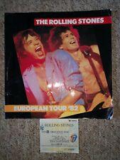 Rolling Stones. European Tour 82 concert programme incl Wembley ticket stub