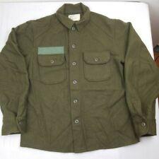 Vintage Korean War Vietnam Era Wool Army Cold Weather Green 108 Shirt Jacket M