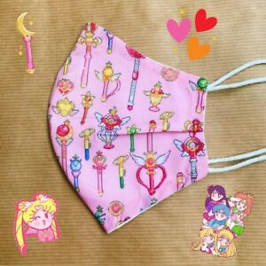 Handmade Pink Sailor Moon 100% Cotton Face Mask